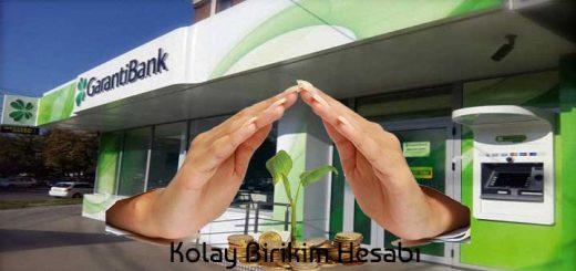 Garanti bankası vadesiz hesap
